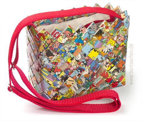 Tasche aus Comicpaier in Candywrapper-Technik